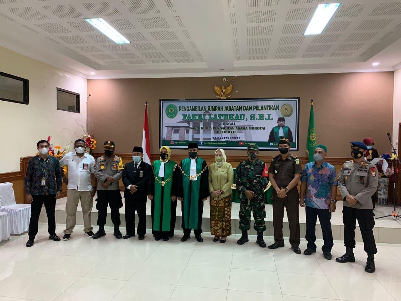 Agenda Pengadilan Agama - Pelantikan Wakil Ketua PA Morotai di Tobelo